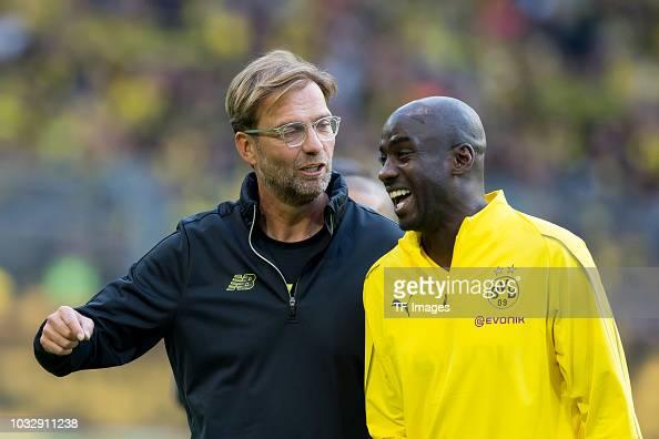 Head coach Juergen Klopp of Borussia Dortmund Allstars and Otto Addo...  News Photo - Getty Images