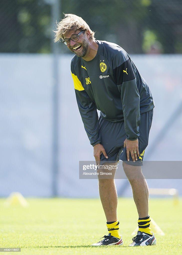 Head coach Juergen Klopp (BVB) of Borussia Dortmund during a training session in the Borussia Dortmund training camp on July 31, 2014 in Bad Ragaz, Switzerland.