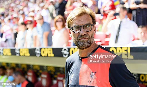 Head coach Juergen Klopp of Liverpool during the friendly match between 1. FSV Mainz 05 and Liverpool FC at Opel Arena on August 7, 2016 in Mainz,...