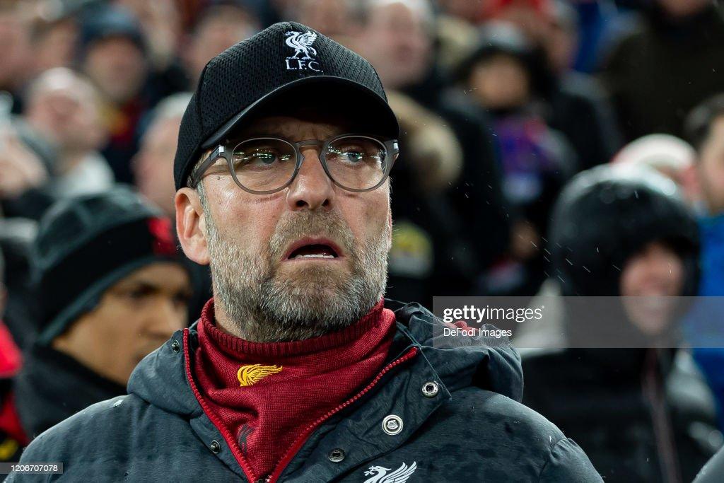 Liverpool FC v Atletico Madrid - UEFA Champions League Round of 16: Second Leg : Nieuwsfoto's