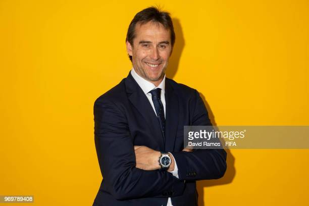 Head Coach Julen Lopetegui of Spain poses during the official FIFA World Cup 2018 portrait session at FC Krasnodar Academy on June 8 2018 in...