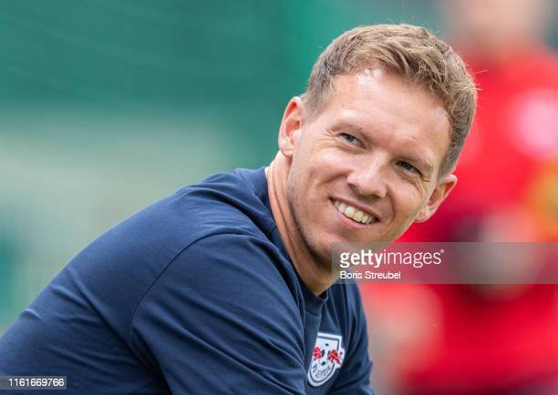 Head coach Julian Nagelsmann of RB Leipzig looks on during the pre-season friendly match between RB Leipzig and FC Zuerich at training centre...