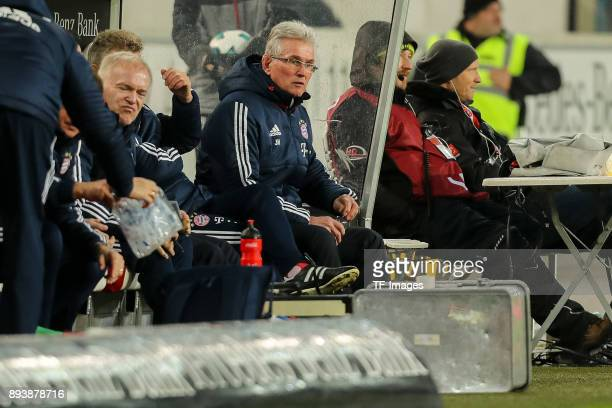 Head coach Jupp Heynckes of Muenchen looks on during the Bundesliga match between VfB Stuttgart and FC Bayern Muenchen at MercedesBenz Arena on...