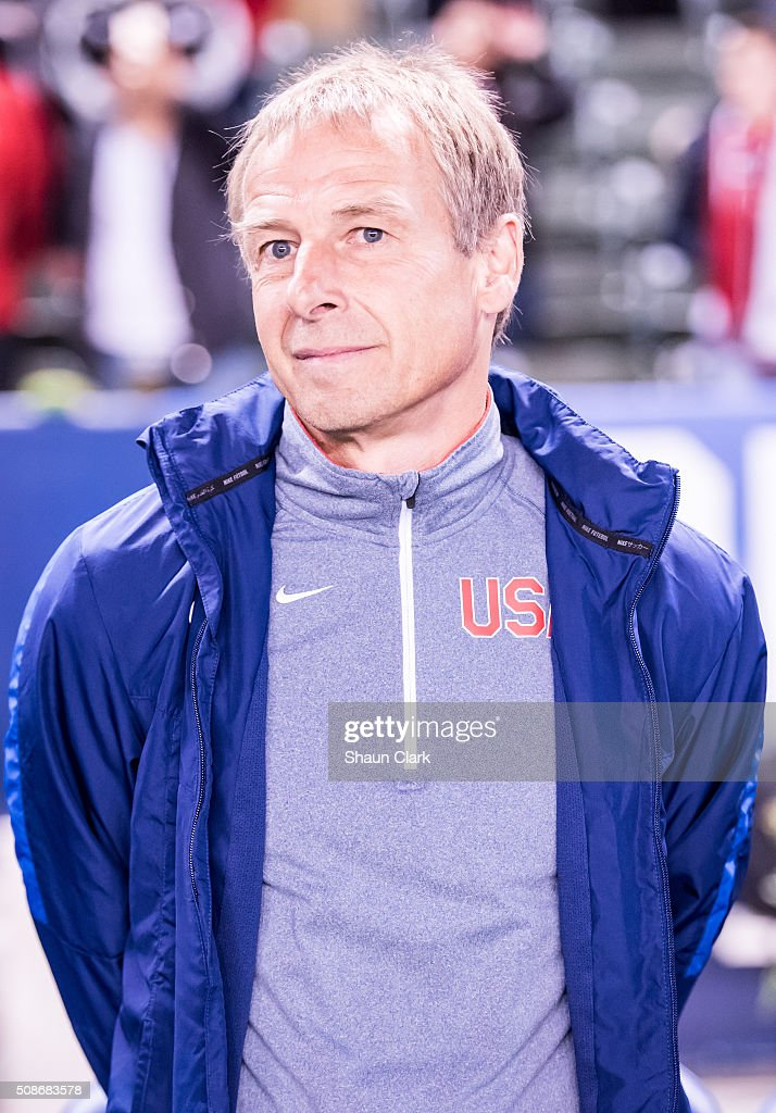 Head coach Jurgen Klinsmann of the United States prior to the International Soccer Friendly match between the United States and Canada at the StubHub Center on February 5, 2016 in Carson, California. The United States won the match 1-0