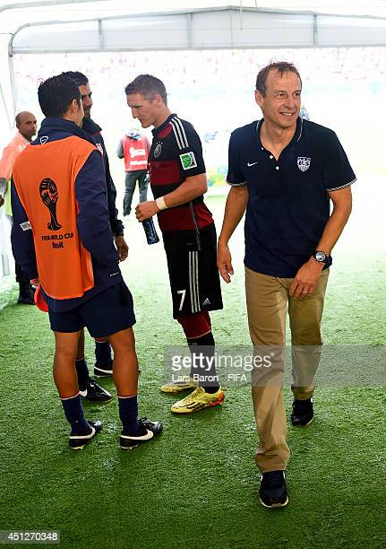 Head coach Jurgen Klinsmann of the United States walks in the tunnel after the 2014 FIFA World Cup Brazil Group G match between USA and Germany at...