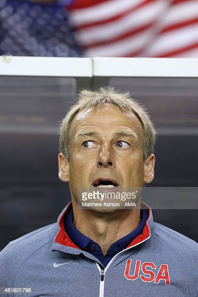 Head coach Jurgen Klinsmann of the USA during the Gold Cup Semi Final between USA and Jamaica at Georgia Dome on July 22 2015 in Atlanta Georgia