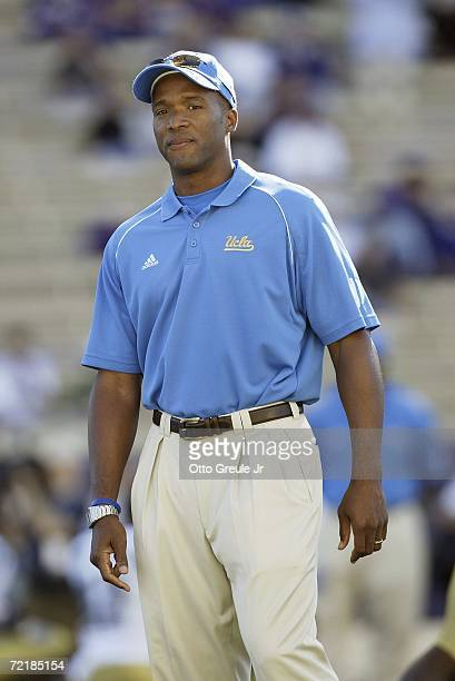 Head coach Karl Dorrell of the UCLA Bruins stands on the field prior to the game against the Washington Huskies on September 23 2006 at Husky Stadium...