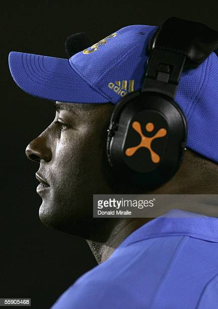 Head Coach Karl Dorrell of the UCLA Bruins watches during the PAC10 NCAA game with the Washington Huskies on October 1 2005 at the Rose Bowl in...