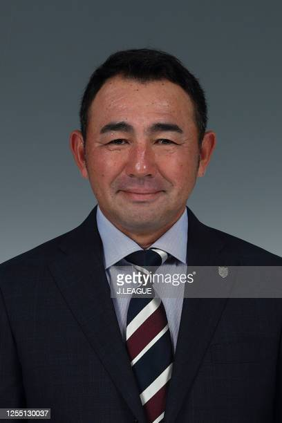 Head coach Kenta Hasegawa poses for photographs during the FC Tokyo portrait session on January 25, 2020 in Japan.
