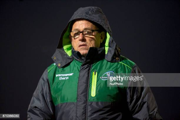 Head coach Kieran Keane of Connacht during the Guinness PRO14 Round 8 rugby match between Connacht Rugby and Toyota Cheetahs at the Sportsground in...