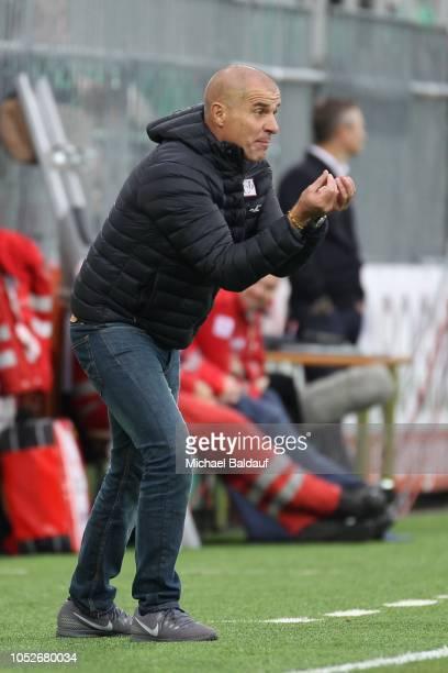 head coach Klaus Schmidt of Mattersburg during the tipico Bundesliga Match between SV Mattersburg and SKN St Poelten at Pappelstadion on October 21...