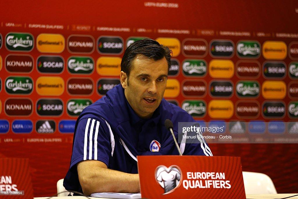 Football - UEFA Euro 2016 - Qualifying - Andorra vs Belgium : News Photo