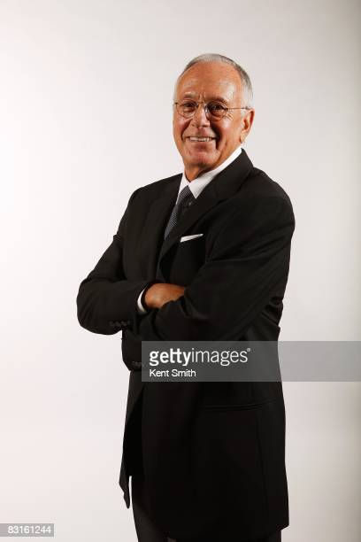 Head Coach Larry Brown of the Charlotte Bobcats poses for a portrait during NBA Media Day on September 29 2008 at Time Warner Cable Arena in...
