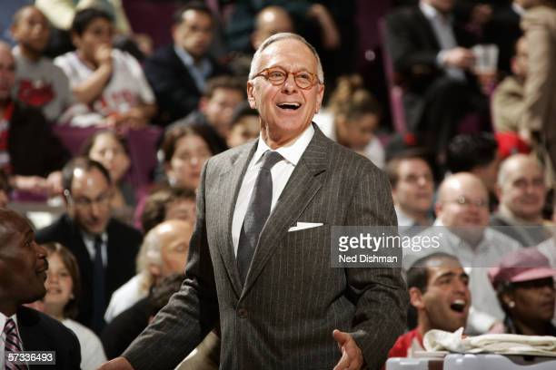 Head coach Larry Brown of the New York Knicks watches the action from the sideline during a game against the Atlanta Hawks at Madison Square Garden...