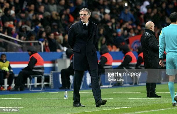 Head coach Laurent Blanc of Paris SaintGermain his dispointed during the French Ligue 1 between Paris SaintGermain and Lille OSC at Parc Des Princes...