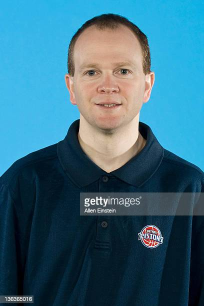 Head Coach Lawrence Frank of the Detroit Pistons poses for a portrait during media day at The Palace of Auburn Hills on December 14 2011 in Auburn...