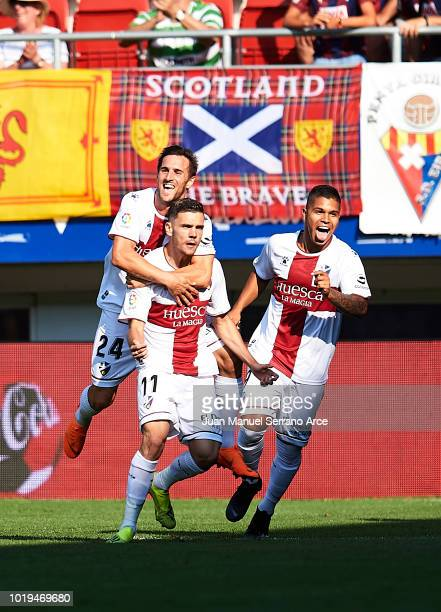 Head coach Leo Franco of SD Huesca reacts during the La Liga match between SD Eibar and SD Huesca at Ipurua Municipal Stadium on August 19 2018 in...