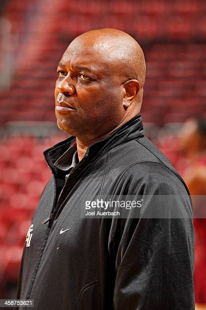 Head Coach Leonard Hamilton of the Florida State Seminoles watches the players during the shootaround prior to the game against the Massachusetts...
