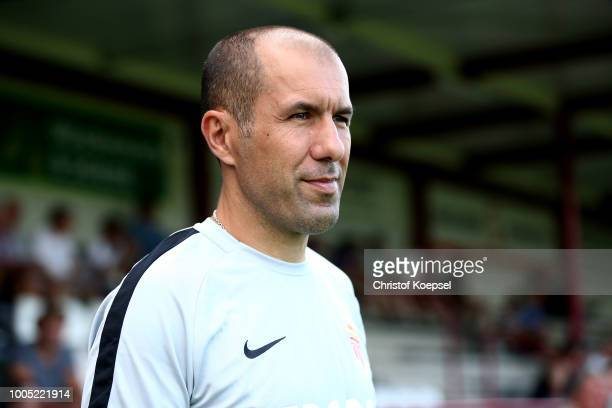 Head coach Leonardo Jardim of Manaco looks on prior to the Pre-Season Friendly match between VfL Bochum and AS Monaco at Sportclub Arena on July 25,...