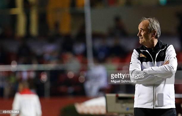 Head coach Levir Culpi of Atletico MG during a match between Sao Paulo x Atletico MG of Brasileirao Series A 2014 at Morumbi Stadium on May 31 2014...