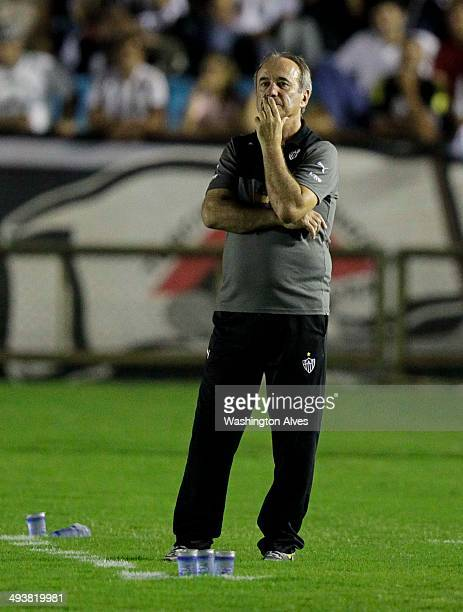 Head coach Levir Culpi of Atletico MG in action during a match between Atletico MG and Criciuma as part of Brasileirao Series A 2014 at Joao Lamego...
