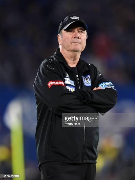 Head coach Levir Culpi of Gamba Osaka looks on during the JLeague J1 match between Yokohama FMarinos and Gamba Osaka at Nissan Stadium on May 12 2018...