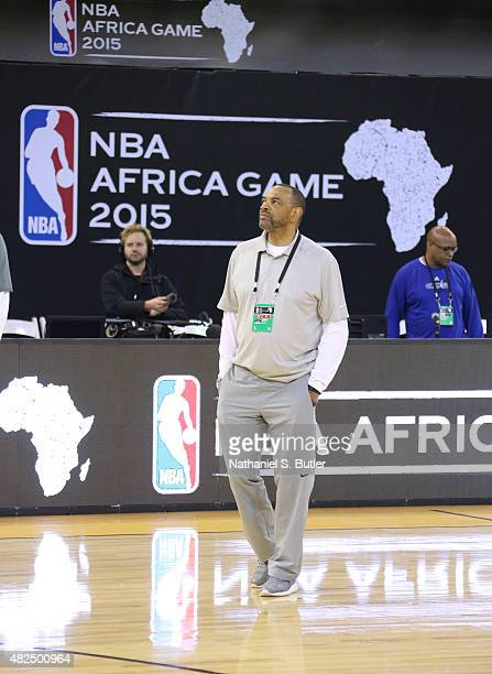 Head Coach Lionel Hollins of Team World during practice for the NBA Africa Game 2015 as part of Basketball Without Borders on July 31 2015 at the...