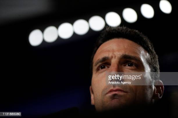 Head coach Lionel Scaloni of Argentina National Football Team holds a press conference ahead of friendly match against Venezuela National Football...