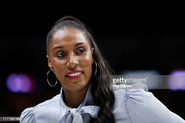 Head coach Lisa Leslie of the Triplets attends the BIG3 Championship at Staples Center on September 01, 2019 in Los Angeles, California.