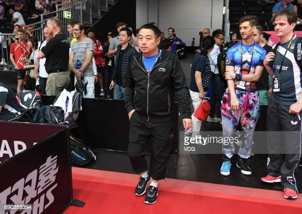 Head coach Liu Guoliang of China is pictured on day 2 of 2017 World Table Tennis Championships at Messe Duesseldorf on May 30, 2017 in Dusseldorf,...