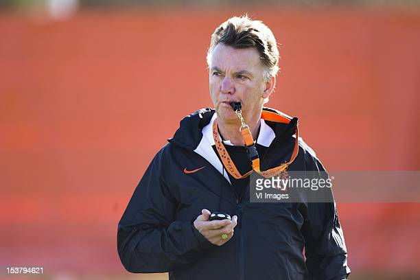 Head Coach Louis van Gaal of the Netherlands during the Training Session of Holland at Nieuw Zuid on October 09, 2012 in Katwijk, The Netherlands.