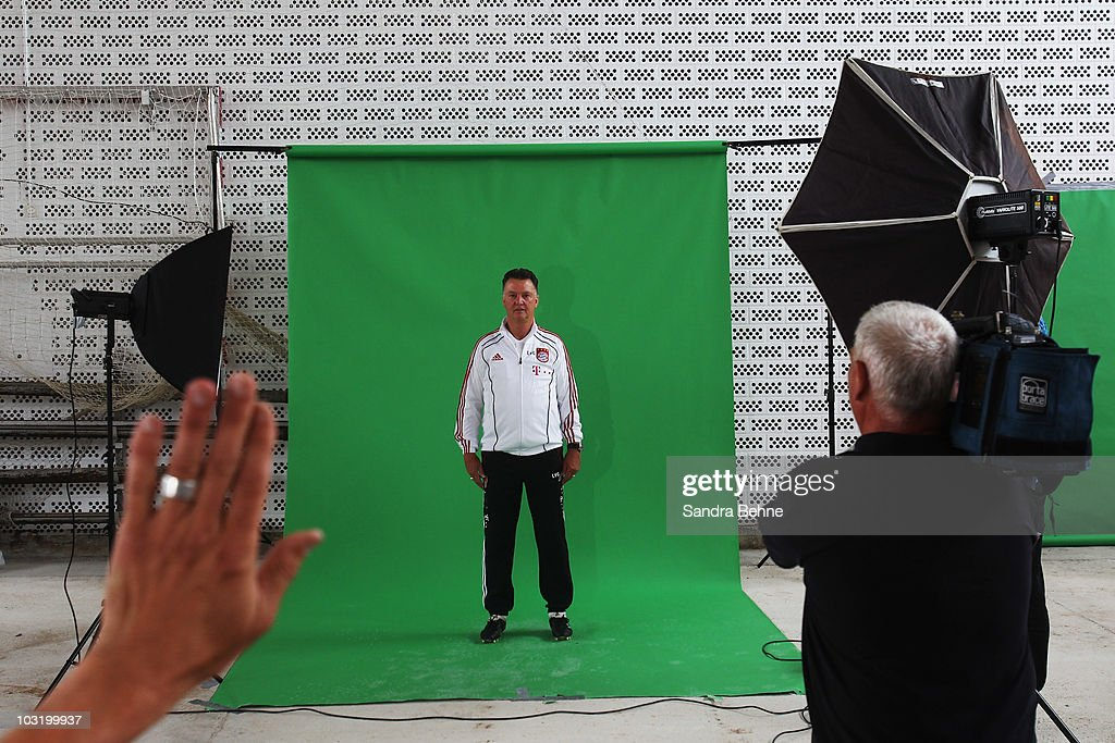 Head coach Louis van Gaal poses during the FC Bayern Muenchen team presentation at Bayern's training ground on August 2, 2010 in Munich, Germany.