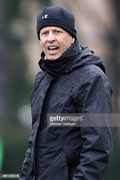 Head Coach Lucien Favre of Borussia Moenchengladbach during a training session at day five of Borussia Moenchengladbach training camp on January 12...
