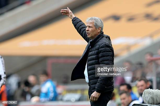 Head Coach Lucien Favre of Borussia Moenchengladbach during the Bundesliga match between 1 FC Koeln and Borussia Moenchengladbach at...