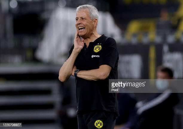 Head coach Lucien Favre of Dortmund during the Bundesliga match between Borussia Dortmund and 1. FSV Mainz 05 at Signal Iduna Park on June 17, 2020...
