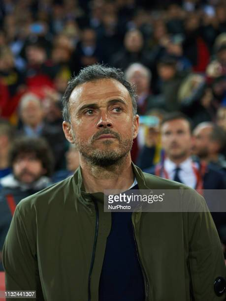 Head coach Luis Enrique Martinez of Spain national team and during the European Qualifying round Group F match between Spain and Norway at Estadio de...