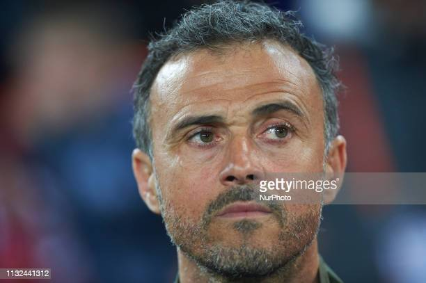Head coach Luis Enrique Martinez of Spain national team prior the European Qualifying round Group F match between Spain and Norway at Estadio de...