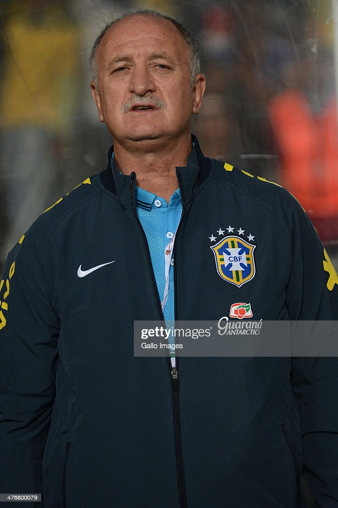 Head coach Luiz Felipe Scolari of Brazil looks on during the International Friendly match between South Africa and Brazil at FNB Stadium on March 05, 2014 in Johannesburg, South Africa.