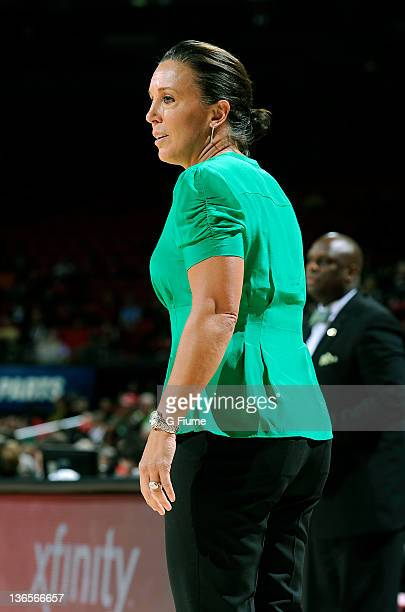 Head coach MaChelle Joseph of the Georgia Tech Yellow Jackets watches the game against the Maryland Terrapins at the Comcast Center on January 6 2011...
