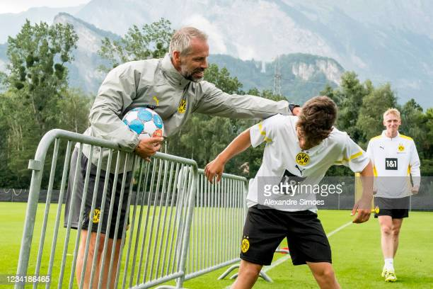 Head coach Marco Rose of Borussia Dortmund during the training camp on July 25, 2021 in Bad Ragaz, Switzerland.