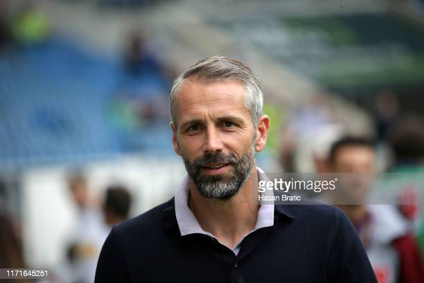 Head coach Marco Rose of Borussia Moenchengladbach is pictured prior the Bundesliga match between TSG 1899 Hoffenheim and Borussia Moenchengladbach...