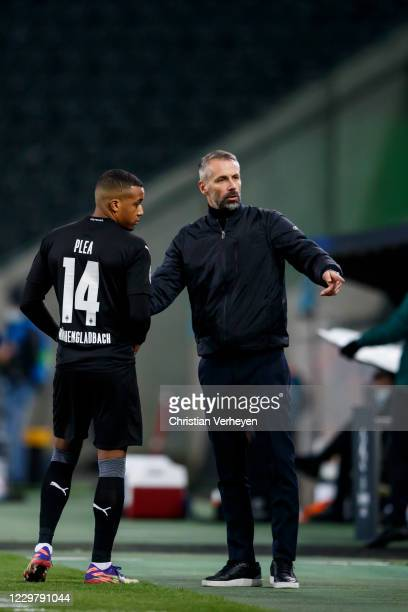 Head Coach Marco Rose of Borussia Moenchengladbach is seen during the Group B UEFA Champions League match between Borussia Moenchengladbach and...