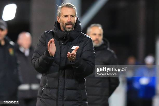 Head coach Marco Rose of RB Salzburg during the tipico Bundesliga match between FC Admira Wacker and RB Salzburg at BFSZArena on December 8 2018 in...