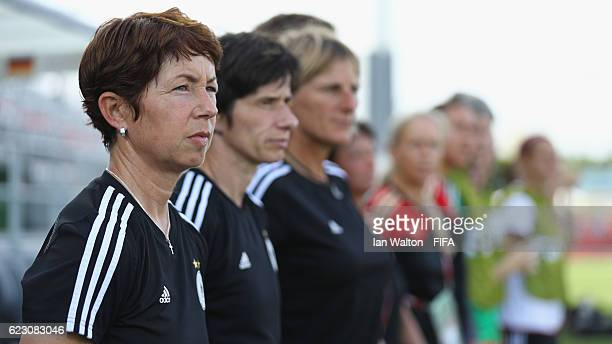 Head coach Maren Meinert of Germany looks on during the FIFA U20 Women's World Cup Group D match between Germany and Venezuela at National Football...