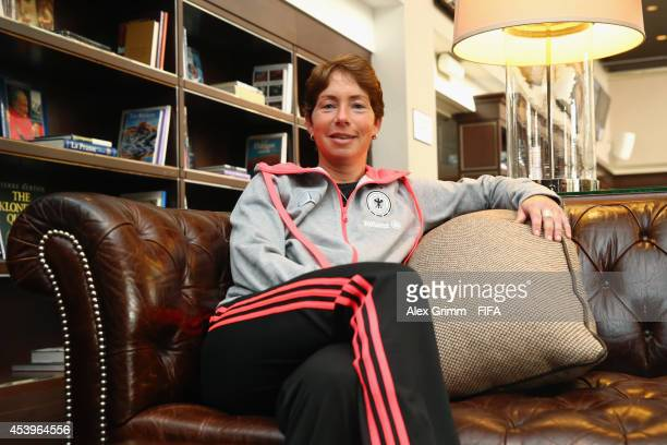 Head coach Maren Meinert of Germany poses after an interview at the Sheraton Hotel on August 22 2014 in Montreal Canada