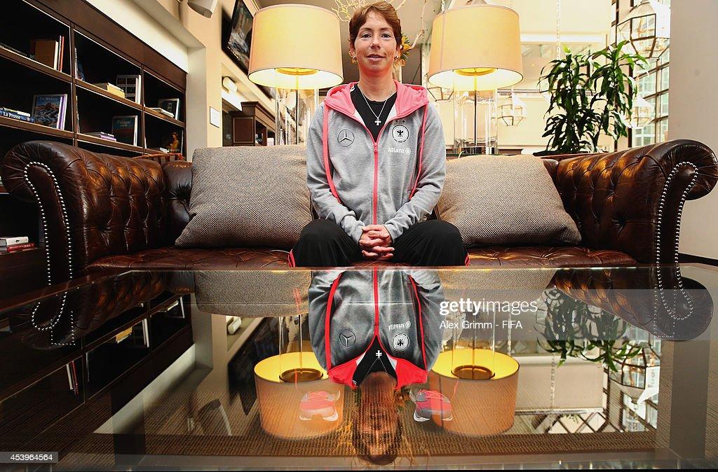 Maren Meinert Interview - FIFA U-20 Women's World Cup Canada 2014 : News Photo