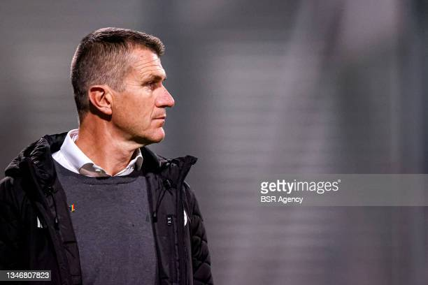 Head Coach Marinus Dijkhuizen of Excelsior Rotterdam during the Dutch Keukenkampioendivisie match between Excelsior Rotterdam and VVV Venlo at Van...