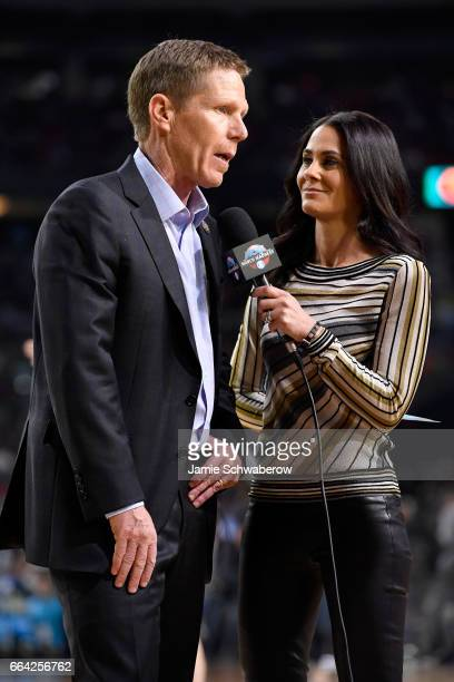 Head coach Mark Few of the Gonzaga Bulldogs speaks with Tracy Wolfson during the 2017 NCAA Photos via Getty Images Men's Final Four National...