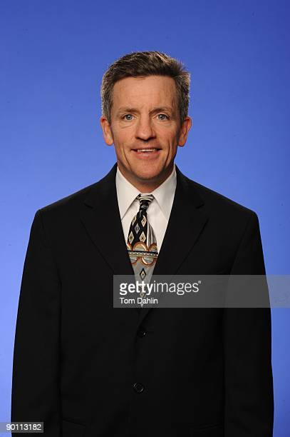 Head Coach Mark Johnson of the US Women's National Hockey Team poses for a headshot on August 26 2009 at the National Sports Center in Blaine...