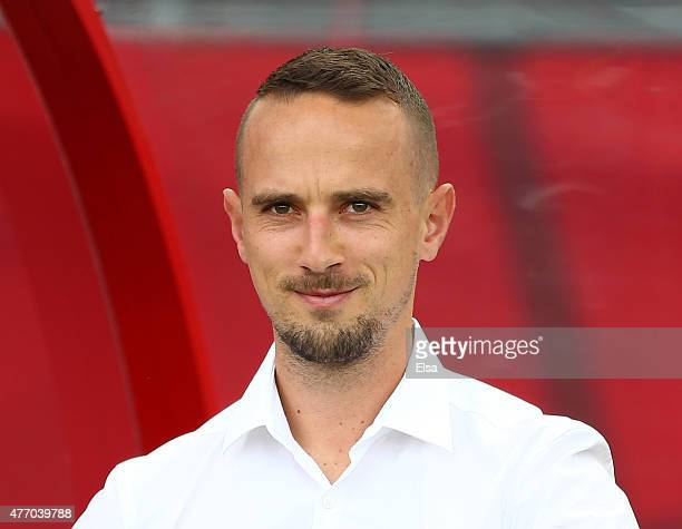 Head coach Mark Sampson of England looks on before the match against Mexico during the FIFA Women's World Cup 2015 Group F match at Moncton Stadium...